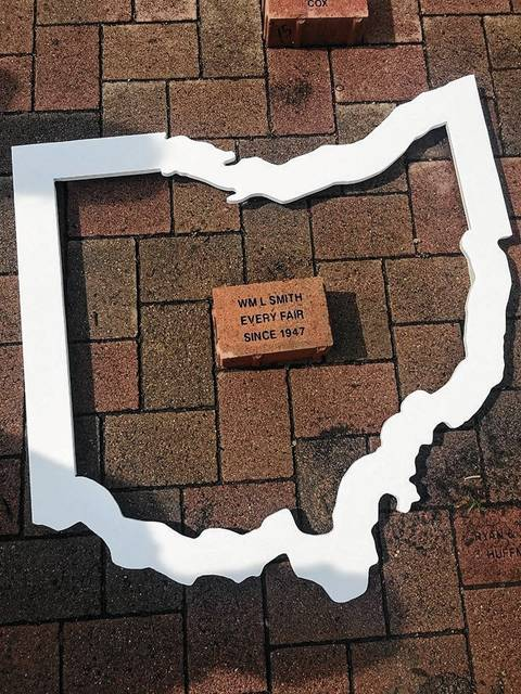 This photo shows William Smith's honorary brick, a part of the Ohio State Fair Brick Program at the Ohio State Expo Center in Columbus.