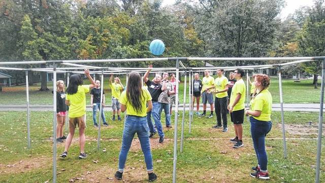 High school students from Logan County schools participated in activities at the Youth Leadership kick-off.