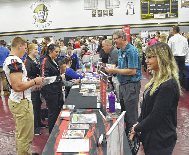 High school students across the county gathered at Ben Logan High School on Sept. 15 for Logan County College Day 2017.