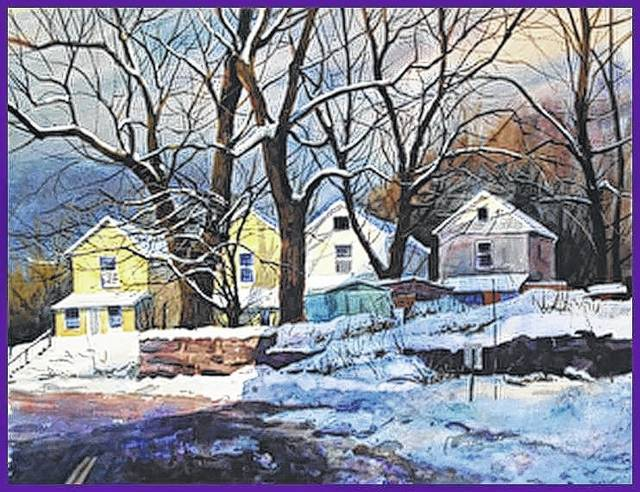 Watercolorist Christopher Leeper of Canfield, whose work is shown here, is visiting Bellefontaine to conduct a workshop and public watercolor demonstration.