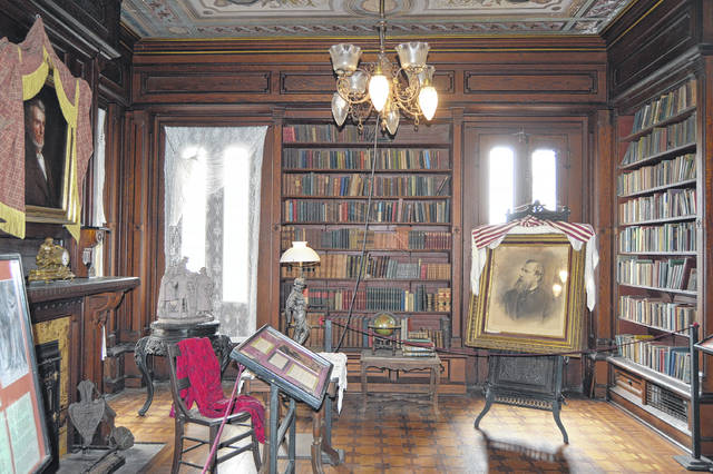The library at Mac-O-Chee Castle is shown in this photo.