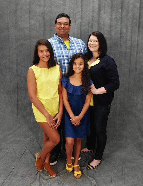 The Piron Family lives in Beaumont, Texas and affected by Hurricane Harvey. (Used by permission of Melissa McIntosh Louden)