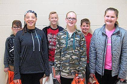 West Liberty-Salem Middle School's October Students of the Month are 8th graders Gabby Williams and Braeden Cushman, 7th graders Carlee Hausler and Devin Grime and 6th graders Faith Jones and Sam Lauck.