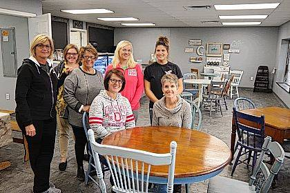The Coffee Development Committee includes, seated from left, Linsey Titus, Char Ellington, standing from left, Lisa McCullough, Samantha Brunson, Cheryl Schrader, Kaycie Boyd and Mia Garriety.