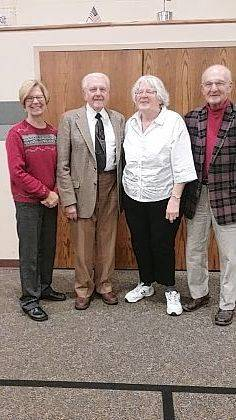 2018 officers of Logan County Retired Teachers are, from left, Pat Holt, treasurer, Emerson Brown, president, Carol Hartley, secretary, and Bill Davis, vice president.