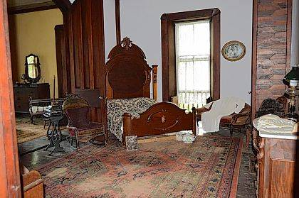 Visiting Mac-A-Cheek Castle allows visitors a glimpse into the past. This photo shows the sitting room and master bedroom used by residents of another era.