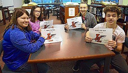 Several Indian Lake Middle School students are starting the year off right with good attitudes and effort toward their goals! The January ILMS Students of the Month are 5th grader Allison Rowe, 6th grader Kailin Fauley, 7th grader Allison Kinney and 8th grader Colin Burba. These students are chosen by their teachers and staff for demonstrating good citizenship, earning good grades and having a positive attitude. They receive a certificate, a homework pass, a pass to the front of the lunch line for a month, a free Cassano's pizza and an ice cream treat.