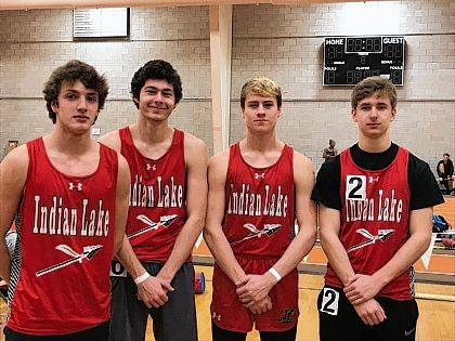 Indian Lake Men's Indoor Track competed at the Dave Wottle Open at BGSU's Perry Field House on Feb. 18. Dustin Franks placed 6th in the long jump (18 ft 7.5 in) and 7th in the high jump (5 ft 8 in). The team of Franks, Dolan Miller, Carter Burnside & Darrick Curtis placed 6th in the 800 relay (1:40.95). Dolan Miller was 9th in the long jump (17 ft 10 in).