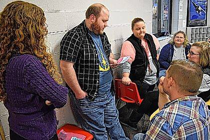 Indian Lake staff members work on identifying mental health disorders as part of the Mental Health First Aid course Feb. 16.