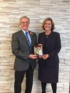 Earick receives Meritorious Service Award