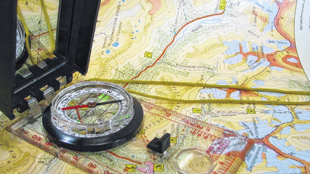 "A good ""Bug out Bag"" (BOB) always includes a good compass and maps."