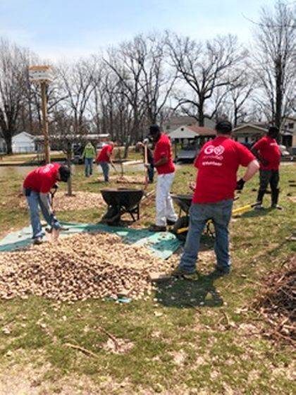April 13 was a perfect day for spring cleaning in the great outdoors at Indian Lake.