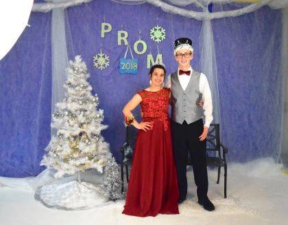 "Indian Lake High School seniors chose Spencer Wolf and MaryAnn Wahl as their 2018 Prom King and Queen, crowned in front of hundreds of students during the dance held May 5 in the Indian Lake High School Auxiliary Gym. Spencer is the son of Eric and Terri Wolf of Huntsville. MaryAnn is the daughter of Mark and Michelle Wahl of Huntsville. The prom theme was ""Winter Wonderland."" After Prom was held at Indian Lake Middle School."