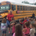 Learning bus safety at Safety Town