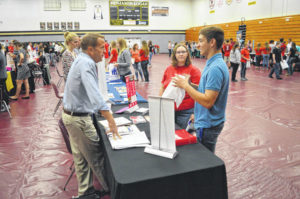 Students learn their options at College Day